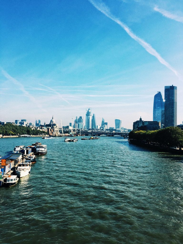 View over the river Thames in London